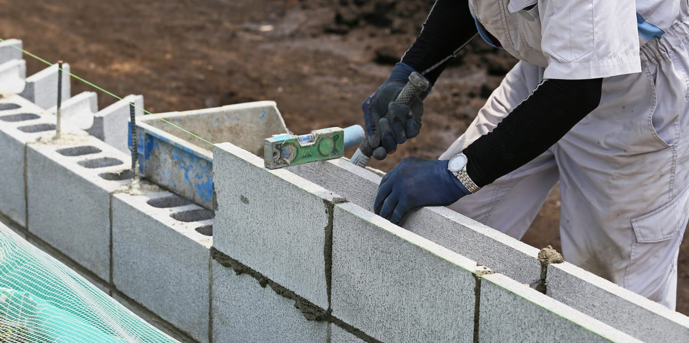 Construction of cement blocks